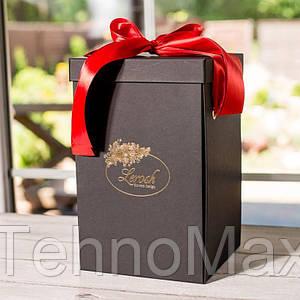 Подарочная коробка для розы черная 34см 830075
