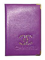 Обложка Фиолетовый для большого паспорта бренды Шанель