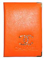 Обложка Оранжевый для большого паспорта бренды Шанель