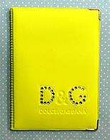 Обложка Желтый для большого паспорта бренды Dolce