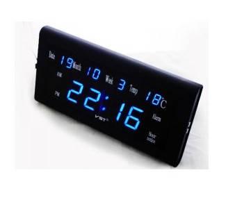 Часы сетевые 795 W-5  настенные (синие), фото 2