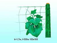 Сітка огіркова (шпалерна) h=1,7м,l=500м 130х180 ТМКЛЕВЕР