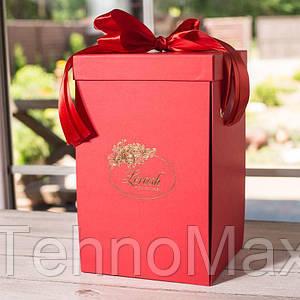 Подарочная коробка для розы красная 34см 830076