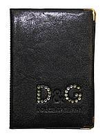 Обложка Черный для большого паспорта бренды Dolce