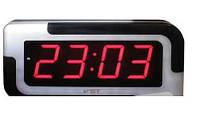 Часы сетевые 739-1  настенные (красные)