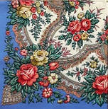 Всплески радости 1756-13, павлопосадский платок шерстяной  с осыпкой (оверлоком), фото 3