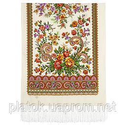 Почуття прекрасного 1767-0, павлопосадский вовняний шарф з шовковою бахромою