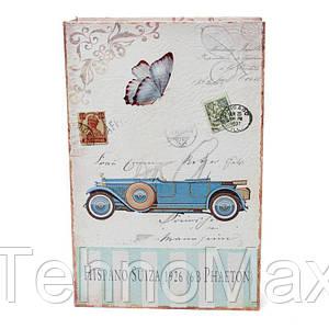 """Книга сейф тайник для денег BST 490106 33×22×7 см разноцветная """"Ретро автомобиль"""""""
