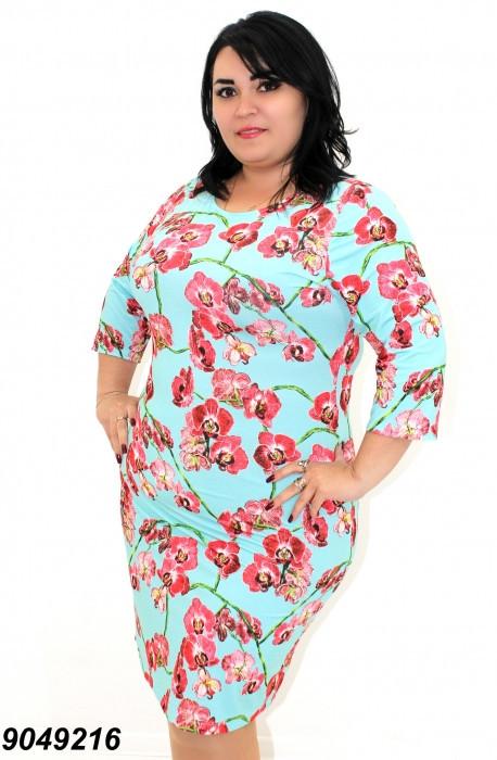 Легкое платье большого размера  50,52,54,56