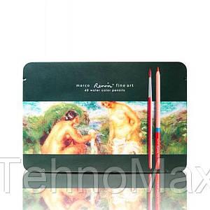 Карандаши акварельные 48 цветов marco Renoir fine art 200076