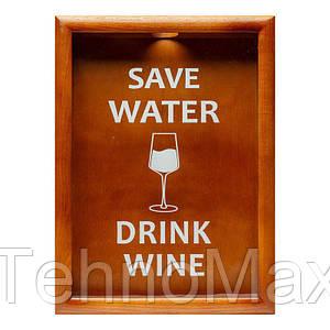 Копилка для винных пробок BST Save Water drink wine