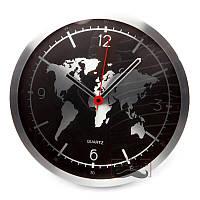 Часы настенные металлические для офиса Around the Earth