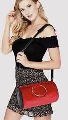 Красная бархатная сумочка кошелек  Guess Оригинал