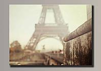 Фото картина на холсте Эйфелева Башня 73,5*54 см.