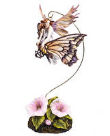 Статуэтка Veronese Фея-малютка на бабочке (72459)