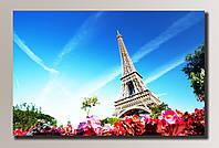 Фото картина на холсте Эйфелева Башня 2 82*54 см.