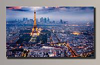 Фото картина на холсте Эйфелева Башня 3 92*54 см.