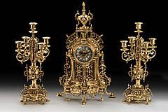 Набор Virtus Часы настольные NF + пара канделябров NF на 5 свечeй бронза (5632-4150SET)