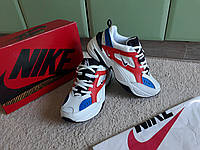 Женские кроссовки Nike M2K Tekno, White/Blue/Red белый синий красный (36-41) унисекс