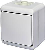 Вимикач 1-клавішний VHE-1 (білий IP54) ETI