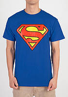 Футболка синяя Superman | супермен лого