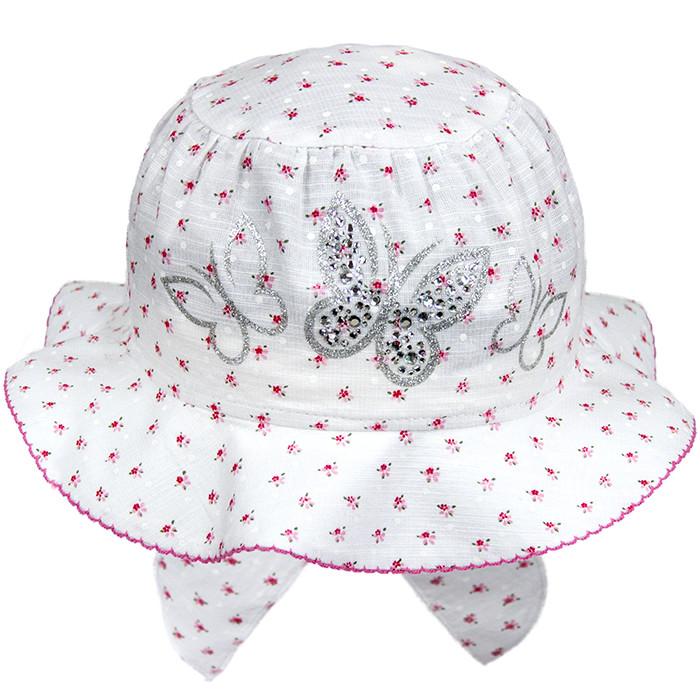 Очаровательная шляпка для девочки в цветочек