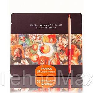 Цветные карандаши 24 цвета марко Renoir fine art 200073