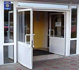 Алюмінієві маятникові двері *, фото 4