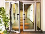 Алюмінієві маятникові двері *, фото 5