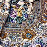 Слова любові 1688-4, павлопосадский вовняну хустку з шовковою бахромою, фото 10