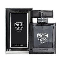 Johan B. Rich Black Icone EDT 90ml (ORIGINAL) (туалетная вода Джохан Би Рич Блек Айкон оригинал)