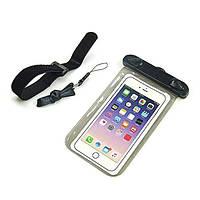 Подводный чехол для смартфона Homar с креплением на руку черный, фото 1