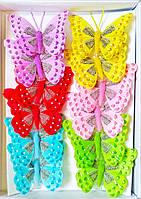 Декоративные бабочки на прищепке (8 см) 287423