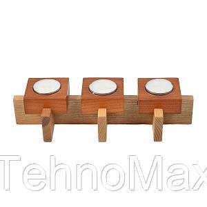 Деревянный подсвечник на три свечи