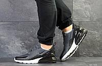 Мужские кроссовки Nike Air Max 270, артикул 7643 темно серые, фото 1
