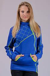 Трикотажная куртка женская с начесом Sport (электрик)