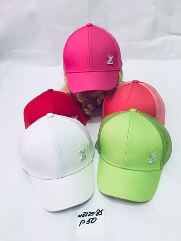 Летняя кепка для девочки с ушками LV р.50, фото 2