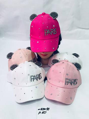 Летняя кепка для девочки с ушками Paris р.50, фото 2