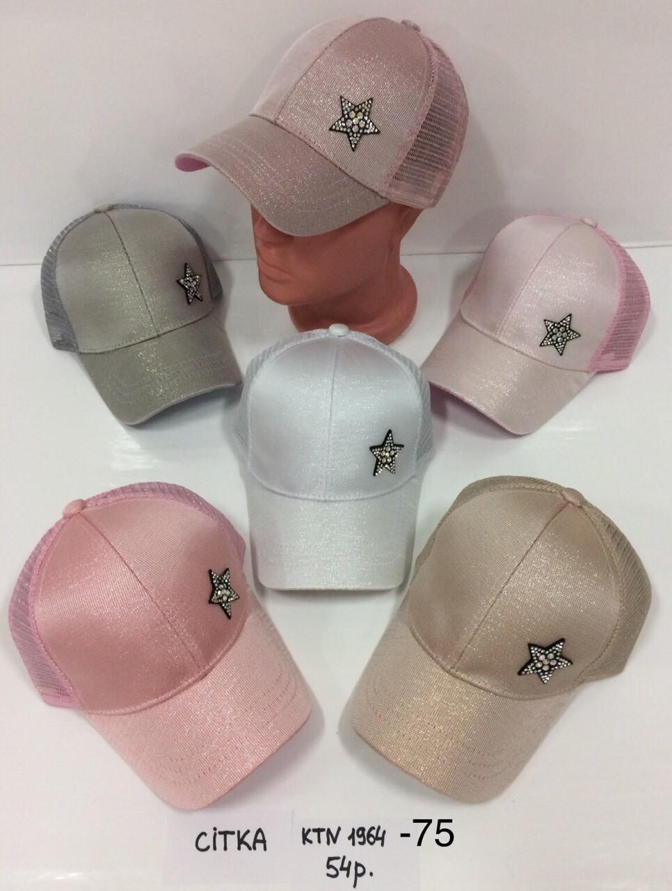 Летняя кепка для девочки с ушками Звезда р.54
