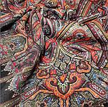 Шафран 1155-18, павлопосадский платок шерстяной  с шелковой бахромой, фото 2