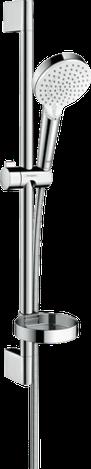 Crometta Vario Душевой набор 0,65 м, с мыльницей Casetta, белый/хром, фото 2