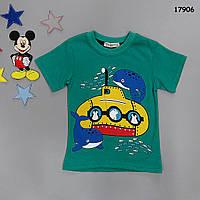 """Футболка """"Подводная лодка"""" для мальчика. 86, 122 см, фото 1"""