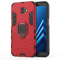 Чехол Ring Armor для Samsung SM-J610 Galaxy J6 Plus Красный