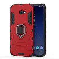 Чехол Ring Armor для Samsung SM-J415 Galaxy J4 Plus Красный