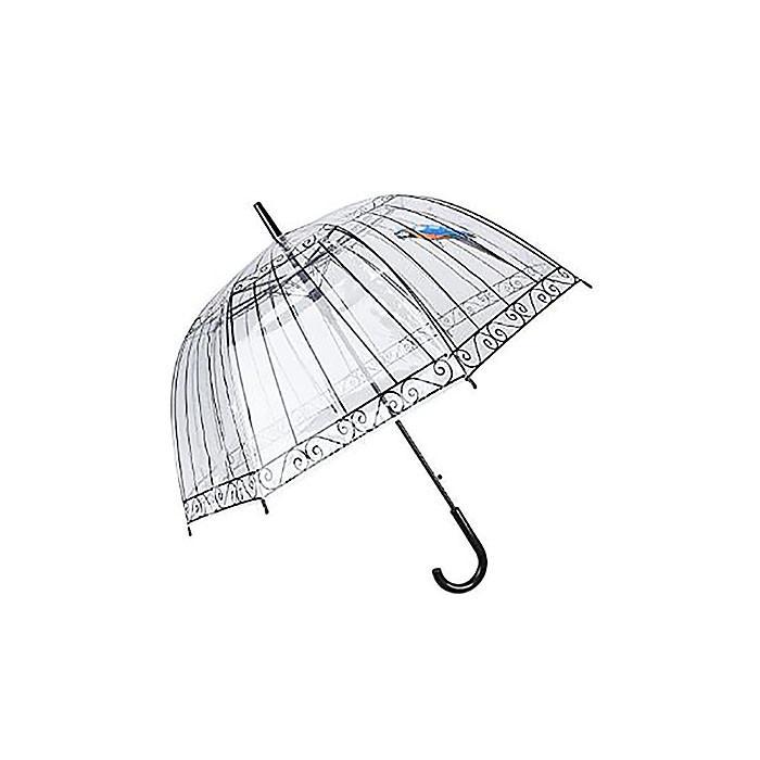 Зонт купольный, прозрачный, зонт трость, Попугай доставка по Киеву Украине