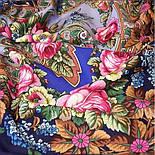 Воспоминания о лете 563-14, павлопосадский платок (шаль) из уплотненной шерсти с шелковой вязанной бахромой, фото 5