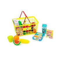 """Корзина с продуктами """"Супермаркет"""", 23 эл (жёлтая) 379 в.5 sco"""