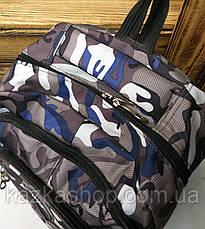 Спортивный прочный рюкзак из непромокаемого уплотненного материала, на 3 отдела, фото 2