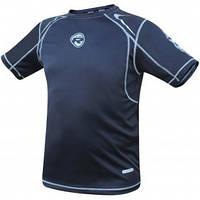 Мужская футболка для спорта.  RDX серый