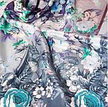 Вінтаж 10092-11, павлопосадский хустку (крепдешин) шовковий з подрубкой, фото 2